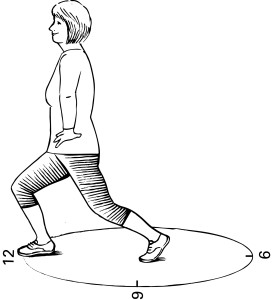 Exercise Challenge Clockface Lunge For Better Balance