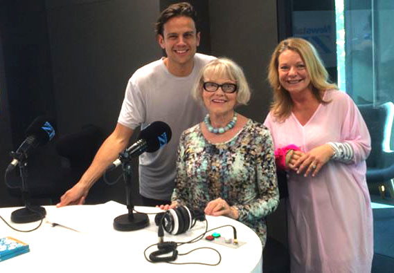 Gillian with Kerre McIvor and Mark Dye NewstalkZB